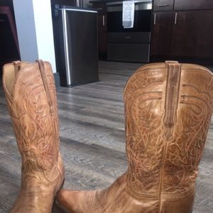 59f889fe5ad Lucchese 1883 Men's Lewis Western Boots - Tan 13